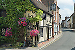 The Leather Bottle Cobham Kent. UK. Charles Dickens used this public house and incorporated village life as he saw it in some of his novels. The High street.