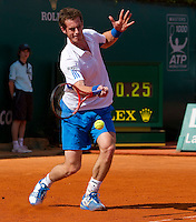 Andy MURRAY (GBR) against Phillip KOHLSCHREIBER (GER) in the second round. Phillip Kohlschreiber beat Andy Murray 6-2 6-1..International Tennis - 2010 ATP World Tour - Masters 1000 - Monte-Carlo Rolex Masters - Monte-Carlo Country Club - Alpes-Maritimes - France..© AMN Images, Barry House, 20-22 Worple Road, London, SW19 4DH.Tel -  + 44 20 8947 0100.Fax - + 44 20 8947 0117