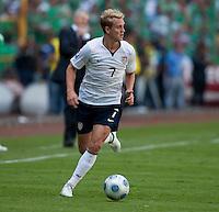 Stuart Holden. USA Men's National Team loses to Mexico 2-1, August 12, 2009 at Estadio Azteca, Mexico City, Mexico. .   .