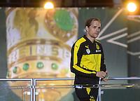 FUSSBALL  DFB POKAL FINALE  SAISON 2015/2016 in Berlin FC Bayern Muenchen - Borussia Dortmund         21.05.2016 Trainer Thomas Tuchel (Borussia Dortmund)  enttaeuscht auf dem Podium