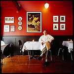 Brasserie &quot;l'&eacute;cole&quot; is the small French bistro owned and operated by Sommelier Marc Morrison and Chef Sean Brennan (who is pictured here in the restaurant)..The restaurant opened December 14th, 2001 and has won numerous awards and accolades since such as Best Restaurant in Victoria