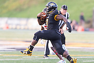Baltimore, MD - SEPT 10, 2016: Towson Tigers running back Darius Victor (7) in action during game against Saint Francis at Johnny Unitas Stadium in Baltimore, MD. The Tigers defeated St. Francis 35-28. (Photo by Phil Peters/Media Images International)