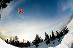 Professional snowboarder Eric Jackson rides at Mt. Seymour, near Vancouver, British Columbia, Canada.