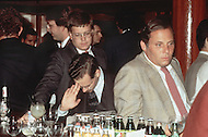Stock Brokers fill Harry's Bar, a Wall Street institution, in the aftermath of Black Monday, when stock markets around the world crashed.