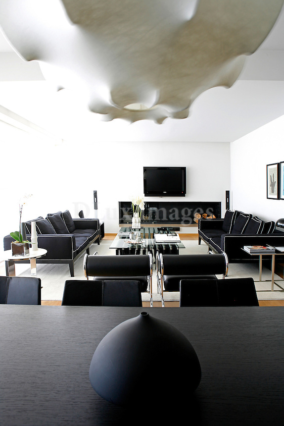 Owner of one of the most prestigious furniture retailers in Greece, Sophie Deloudi chose unique furniture pieces from top designers for her two-story Athens home.