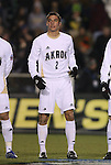 11 December 2009: Akron's Zarek Valentin. The University of Akron Zips defeated the University of North Carolina Tar Heels 5-4 on penalty kicks after the game ended in a 0-0 overtime tie at WakeMed Soccer Stadium in Cary, North Carolina in an NCAA Division I Men's College Cup Semifinal game.