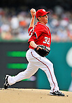 19 June 2011: Washington Nationals' pitcher Tom Gorzelanny on the mound against the Baltimore Orioles in a Father's Day matchup at Nationals Park in Washington, District of Columbia. The Orioles defeated the Nationals 7-4 in inter-league play, ending Washington's 8-game winning streak. Mandatory Credit: Ed Wolfstein Photo