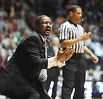 Missouri head coach Frank Haith reacts to a play against Missisippi at the C.M. &quot;Tad&quot; Smith Cliseum on Saturday, January 12, 2013. (AP Photo/Oxford Eagle, Bruce Newman)