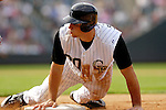 10 September 2006: Chris Iannetta, catcher for the Colorado Rockies, in action against the Washington Nationals. The Rockies defeated the Nationals 13-9 at Coors Field in Denver, Colorado...Mandatory Photo Credit: Ed Wolfstein.