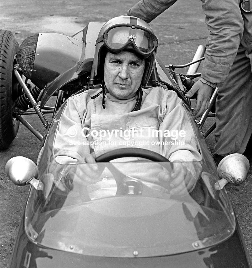 Malcolm Templeton, racing driver, N Ireland, September 1967, 196709000149b<br /> <br /> Copyright Image from Victor Patterson, 54 Dorchester Park, Belfast, UK, BT9 6RJ<br /> <br /> Tel: +44 28 9066 1296<br /> Mob: +44 7802 353836<br /> Voicemail +44 20 8816 7153<br /> Email: victorpatterson@me.com<br /> Email: victorpatterson@gmail.com<br /> <br /> IMPORTANT: My Terms and Conditions of Business are at www.victorpatterson.com