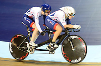 Picture by Simon Wilkinson/SWpix.com - 04/03/2017 - Cycling 2017 UCI Para-Cycling Track World Championships, Velosports Centre, Los Angeles USA - Alison Patrick and Helen Scott