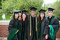 Naiara Barbosa, from left, Lynsey Rangel, Mena Bakhit, Felicia Bahadue, Stephen Morris. Commencement class of 2013.