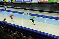 SCHAATSEN: HEERENVEEN: 25-10-2013, IJsstadion Thialf, NK afstanden, 5000m, Jan Blokhuijsen, Sven Kramer, ©foto Martin de Jong