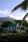 "The ""Twin Gables"" Deluxe Cottage at The Hermitage Plantation, Nevis 4/05 Twin Gables, early morning"