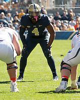 Pitt linebacker Bam Bradley. The Pitt Panthers football team defeated the Virginia Cavaliers 26-19 on Saturday October 10, 2015 at Heinz Field, Pittsburgh, Pennsylvania.