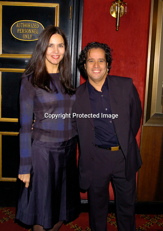 """Caroline and Jellybean Benitez ..at The New York Premiere of """" Alfie"""" on October 18, 2004 ..at The Ziegfeld Theatre. ..Photo by Robin Platzer, Twin Images"""