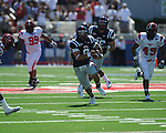 Ole Miss quarterback Jeremiah Masoli (8) runs at Vaught-Hemingway Stadium in Oxford, Miss. on Saturday, September 4, 2010.