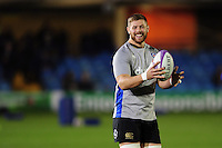 Dave Attwood of Bath Rugby looks on during the pre-match warm-up. European Rugby Challenge Cup match, between Bath Rugby and Cardiff Blues on December 15, 2016 at the Recreation Ground in Bath, England. Photo by: Patrick Khachfe / Onside Images
