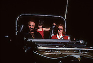Beverlly Hills, Los Angeles, California - October 13th, 1979. Demis Roussos (born June 15, 1946), his wife Dominique and Cyril (5) take a ride in Beverly Hills. Demis Roussos is a Greek singer and performer who had a string of international hit records. He has sold over 60 million albums worldwide.