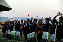 Japan team group (JPN),..FEBRUARY 12, 2011 - Football :..Japan players acknowledge fans after the international friendly match between U-22 Bahrain 0-2 U-22 Japan at the Bahrain National Stadium in Manama, Bahrain. (Photo by FAR EAST PRESS/AFLO)
