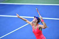 NEW YORK, USA - SEPT 09, Angelique Kerber of Germany serves to Caroline Wozniacki of Denmark during their Women's Singles Semifinal Match of the 2016 US Open at the USTA Billie Jean King National Tennis Center on September 8, 2016 in New York.  photo by VIEWpress