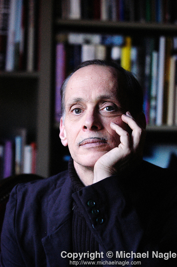 NEW YORK -- JANUARY 19, 2004:  John Waters poses for a portrait inside his apartment on January 19, 2004 in New York City.  (PHOTOGRAPH BY MICHAEL NAGLE)