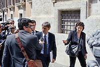 Roma 29 Aprile 2013.Il ministro degli Affari Regionali Domenico Delrio entra alla Camera dei Deputati dove si voto la fiducia al Governo Letta