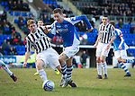 St Johnstone v St Mirren.....23.02.13      SPL.Steven MacLean and David Van Zanten.Picture by Graeme Hart..Copyright Perthshire Picture Agency.Tel: 01738 623350  Mobile: 07990 594431