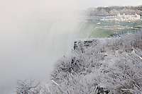 The frozen winter drop of Niagara Falls. January 15, 2012. © Allen McEachern.