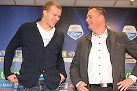 VOETBAL: HEERENVEEN: Abe Lenstra Stadion, 02-02-2015, nieuwe speler SC Heerenveen, Henk Veerman, Jelko van der Wiel (voorzitter sc Heerenveen), ©foto Martin de Jong