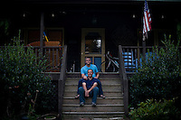 Chris Crabtree and Parrish Pace, together for 17 years. The Crabtree's home is on land that has been in their family for over 200 years. Bahama, NC.