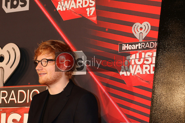 Ed Sheeran<br /> at the 2017 iHeart Music Awards, The Forum, Los Angeles, CA 03-05-17<br /> David Edwards/DailyCeleb.com 818-249-4998