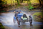 Vintage Bugatti, watersplash, motoring