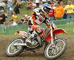 Motocross, MX2 WM 2004, Weltmeisterschaft, Grand Prix of Europe, Gaildorf (Germany) Jonathan Barragan (SPA), KTM