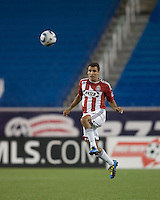Chivas USA defender Jonathan Bornstein (13) clears the ball. Chivas USA defeated the New England Revolution, 4-0, at Gillette Stadium on May 5, 2010.