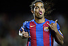 Campeonato Nacional de Liga, Nou Camp, FC Barcelona - Valencia. Ronaldinho celebra un gol -&copy;Vicens  Gim&eacute;nez