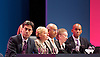 Ed Balls speech <br /> Labour Party Conference, Manchester, Great Britain <br /> 22nd September 2014 <br /> <br /> Ed Balls MP <br /> Shadow Chancellor<br /> Stability &amp; Prosperity debate<br /> <br />  Ed Miliband watching speech <br /> <br /> Photograph by Elliott Franks <br /> Image licensed to Elliott Franks Photography Services