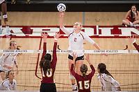 Stanford, CA -- December 2, 2016. Stanford Cardinal Women's Volleyball vs. Denver. NCAA Play-offs. Final score Stanford 3, Denver 0.