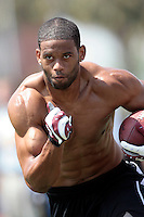1 April 2009: Patrick Turner during the 2009 USC Trojans NFL Pro Timing Day at Cromwell Field on The University of Southern California campus.  Pro football scouts, personnel directors, coaches, agents and front office executives spent three hours with former college players who have chosen to enter the 2009 NFL draft.....