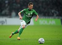 FUSSBALL   1. BUNDESLIGA   SAISON 2011/2012   19. SPIELTAG Werder Bremen - Bayer 04 Leverkusen                    28.01.2012 Markus Rosenberg (SV Werder Bremen) Einzelaktion am Ball