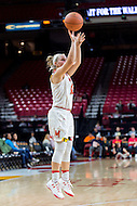College Park, MD - DEC 6, 2016: Maryland Terrapins guard Blair Watson (22) shots a three pointer during game between Towson and Maryland at XFINITY Center in College Park, MD. The Terps defeated the Tigers 97-63. (Photo by Phil Peters/Media Images International)