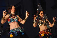 Members of Harissa Bellydance troupe dances during Carnevale at Venice Beach on Saturday, June 6, 2009.