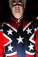 Man in a confederate flag jacket, South Carolina, 2008