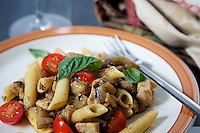 Pasta w/Swordfish, Eggplant and Tomatoes