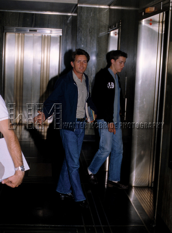 Martin Sheen entering the NBC Building in New York City.