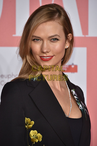 Karlie Kloss<br /> arrivals at London's Fabulous Fund Fair 2016 in aid of the Naked Heart Foundation at Old Billingsgate Market on 20th February 2016.<br /> CAP/PL<br /> &copy;Phil Loftus/Capital Pictures