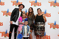 WESTWOOD, CA - OCTOBER 23: Andrew Slyfox, Caspian Slyfox, Jaedyn Skyfox, Hannah Slyfox, guest at the premiere Of 20th Century Fox's 'Trolls' at Regency Village Theatre on October 23, 2016 in Westwood, California. Credit: David Edwards/MediaPunch
