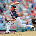 3 September 2012: Washington Nationals pitcher Tyler Clippard closes out against the Chicago Cubs at Nationals Park in Washington, DC. The Nationals edged out the visiting Cubs 2-1, in the first game of heir 4-game series. Mandatory Credit: Ed Wolfstein Photo