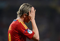 FUSSBALL  EUROPAMEISTERSCHAFT 2012   VIERTELFINALE Spanien - Frankreich      23.06.2012 Fernando Torres (Spanien)