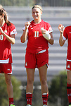 23 October 2011: Maryland's Olivia Wagner. The Duke University Blue Devils defeated the University of Maryland Terrapins 3-1 at Koskinen Stadium in Durham, North Carolina in an NCAA Division I Women's Soccer game.